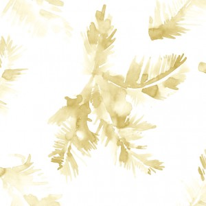 wallpaper palm leave gold beige