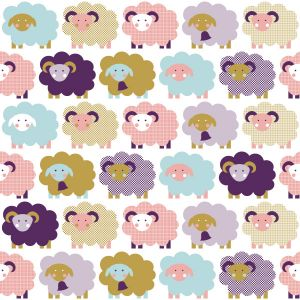 Pink Sheep Wallpaper