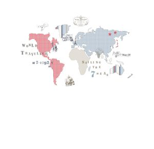 World Map Kids Mural