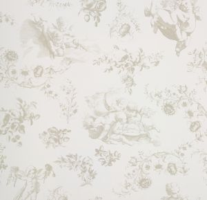 wallpaper,Room,Seven,flowers,angels,beige,bottom,white