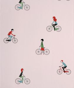 Bicycles Wallpaper Pink