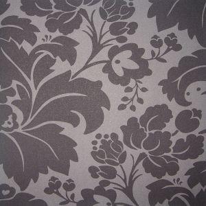 Black & Grey Damask Wallpaper