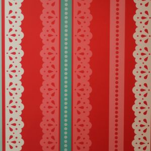 wallpaper,Catalina,Estrada,red,turquoise,lace,white