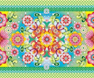 Catalina,Estrada,border,flowers,multicolour