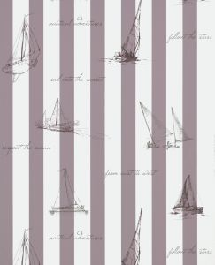 SAILING MAUVE WALLPAPER