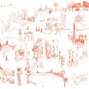 Red Barcelona Mural