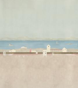 Mural Tierra Plana Pink by Elvira Solana
