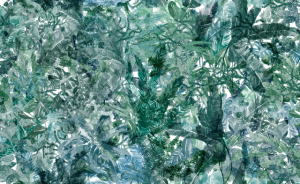 Mural Jungle Dream Mint Green by Lara Costafreda