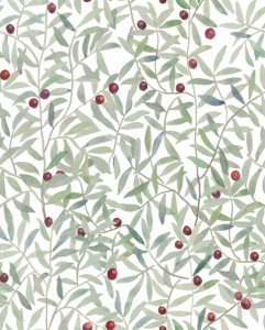 Leaf Craze White wallpaper by Andrea Zarraluqui