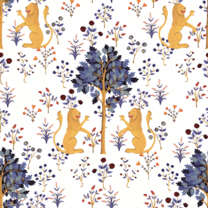 Medieval Tapestry White wallpaper by Brianda Fj Stuart