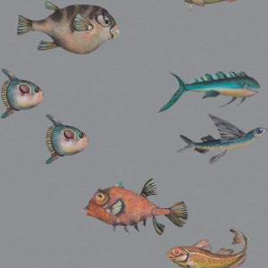 Peces Santamas wallpaper Grey by Joana Santamas