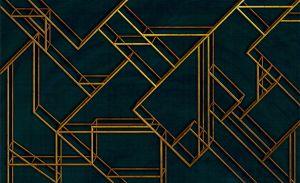 Mural L Geometric Dark Blue