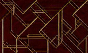 Mural L Geometric Wine