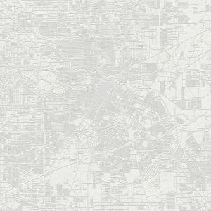 Mural Urban Map White