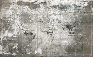 Mural Old Map Steel