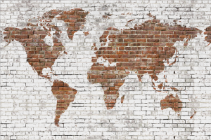 Mural Bricks Map White