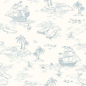 Treasure Island White wallpaper