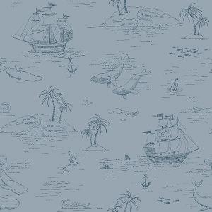 Treasure Island Blue wallpaper