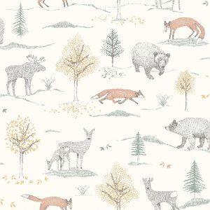 Up North White wallpaper