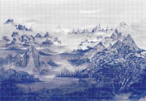 Mural Kami Blue Spirulina