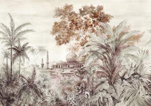 Mural Taj Mahal Rose