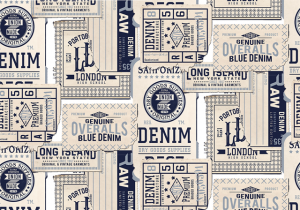 Mural Tickets Navy