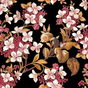 Flowery Black wallpaper