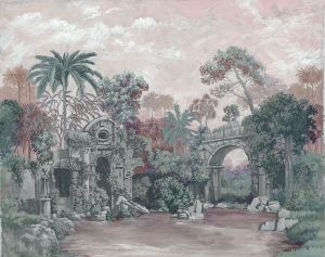 Mural Neo Colonial Pink