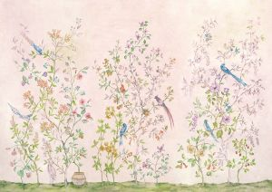 Mural Tea Garden Pink