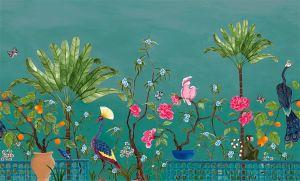 Mural Neo-Tea Garden Green