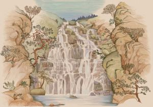 Mural Fallingwater Summer