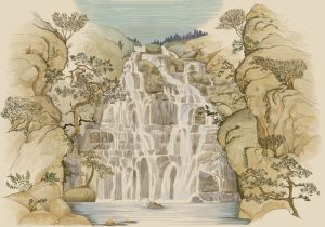 Mural Fallingwater Autumn