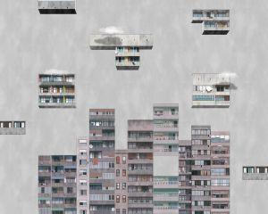 Mural Tetris Rainy