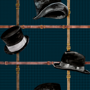 Ascot Noir wallpaper