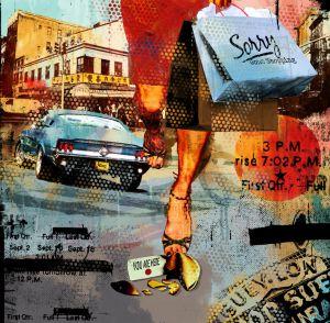 urban shopping mural