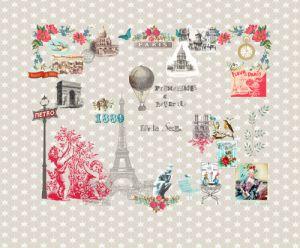 mural,icon,Paris,beige