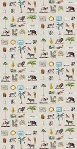 mural,savannah,África,iconos,beige