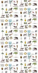 mural,savannah,África,iconos