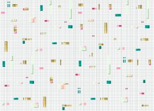 Pixels Pink/Green wallpaper