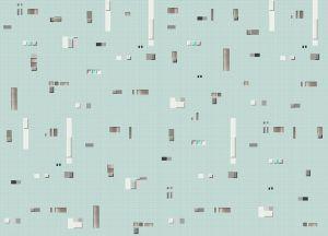 Pixels Blue wallpaper