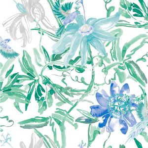wallpaperblue flower jungle