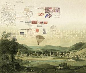 Tres Tintas Stamps mural