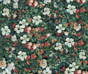 Floral Tapestry Mint wallpaper