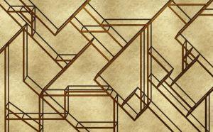 Mural L-Geometric Gold