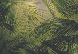 Mural Palms Silver