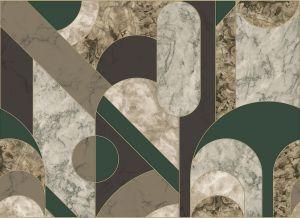 Mural Capsules Gold/Green
