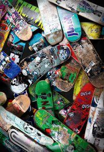 Skateboard pile