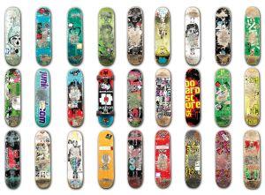 Mural Skateboard white