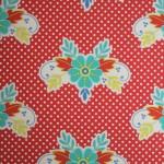 wallpaper,Catalina,Estrada,blue,flowers,red,white,spots