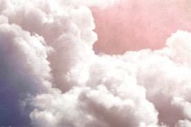 Mural Clouds Pink